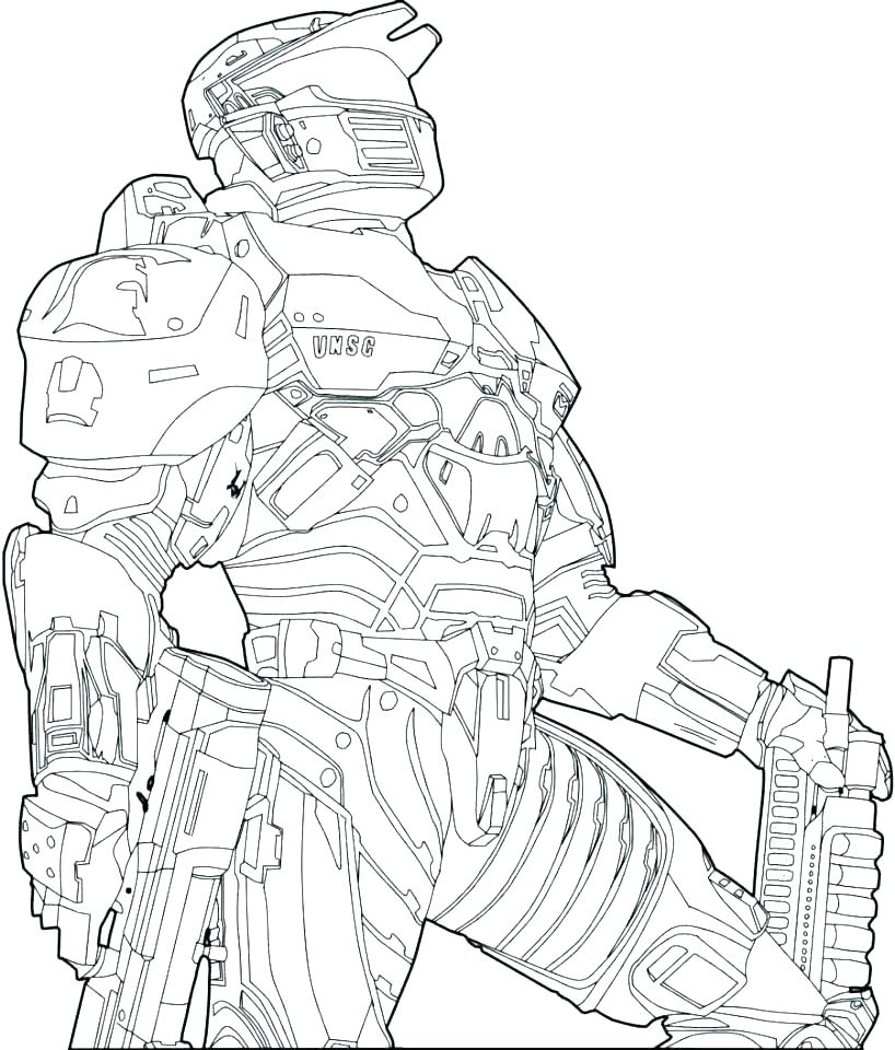 818x960 Halo Master Chief Coloring Pages Halo Master Chief Coloring Pages