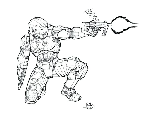 600x466 Halo Master Chief Coloring Pages Pencil Of Halo Master Chief