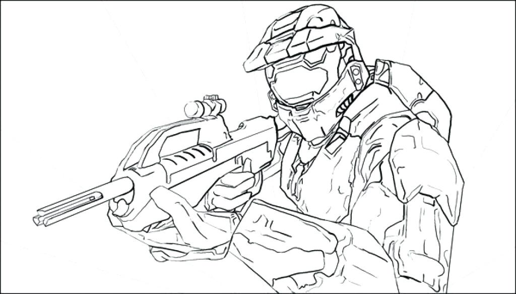 1024x583 Master Chief Coloring Pages