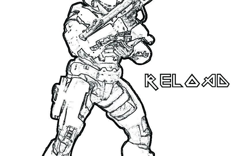 816x544 Halo Coloring Pages To Print