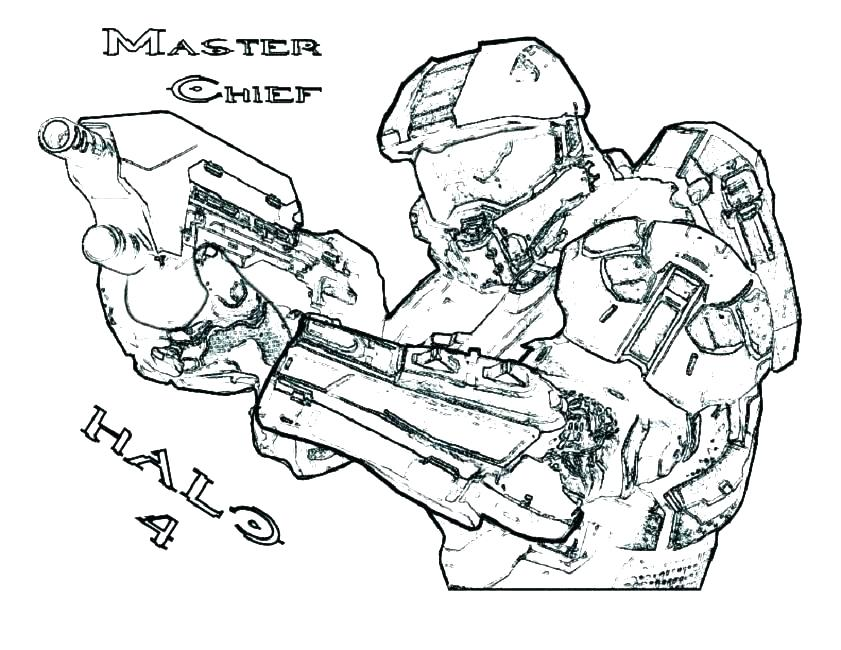 841x650 Halo Master Chief Coloring Pages