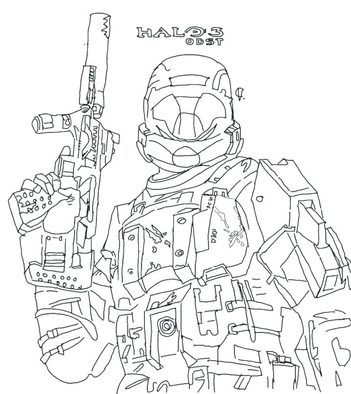 717x806 Halo Coloring Also Halo Coloring Pages Free Halo Coloring