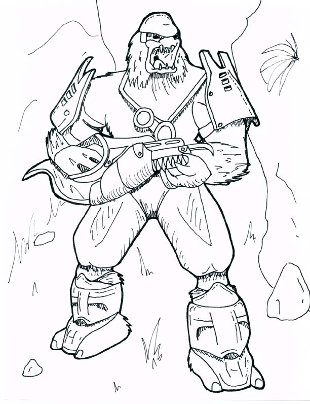 612x796 Halo Coloring Pages