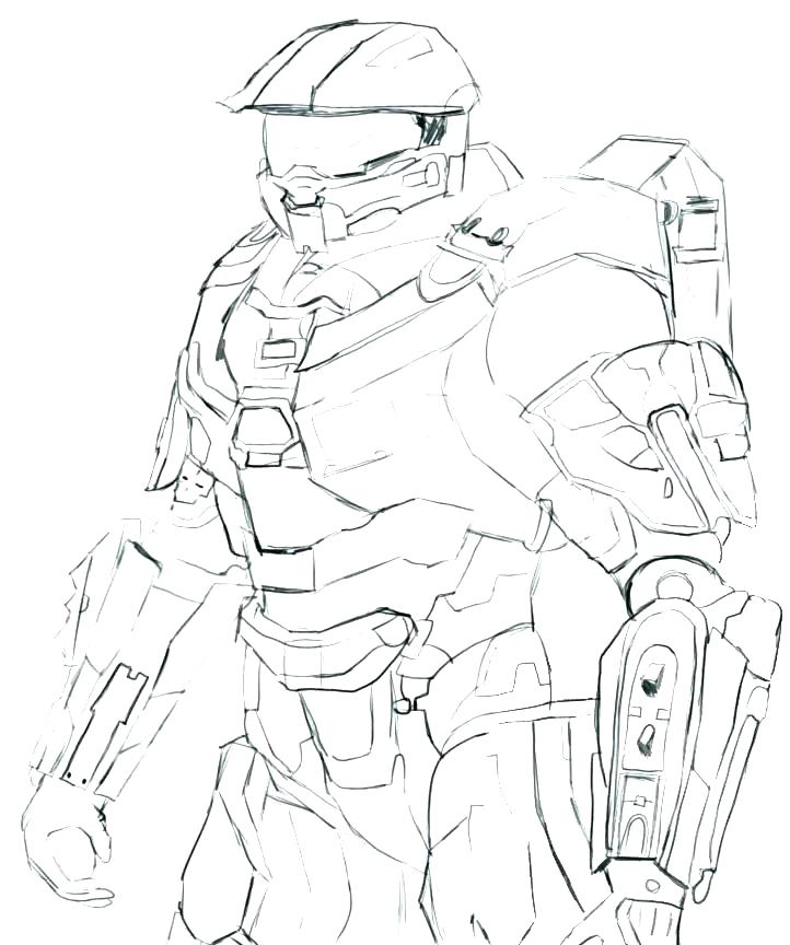 722x864 Halo Coloring Pages S S Halo Reach Spartan Coloring Pages