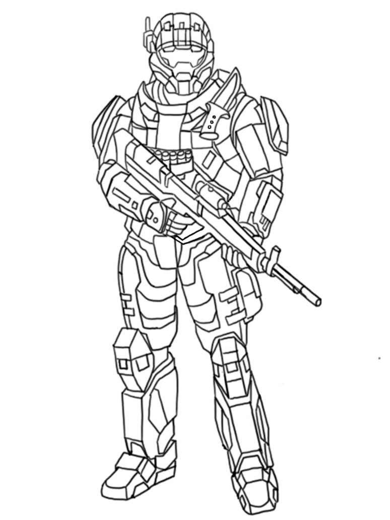 774x1032 Halo Coloring Pages