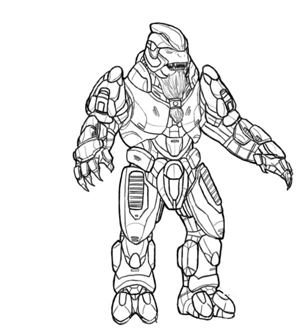 600x663 Free Printable Halo Coloring Pages For Kids