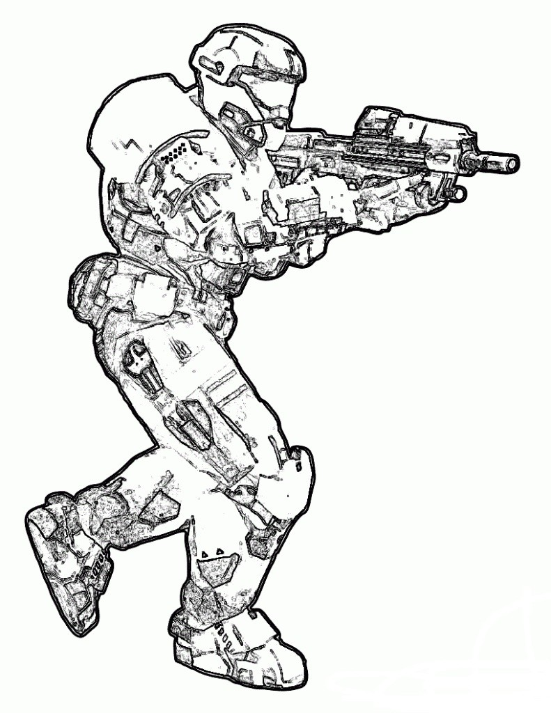 791x1024 Minecraft Halo Coloring Pages Best Of Halo Coloring Pages