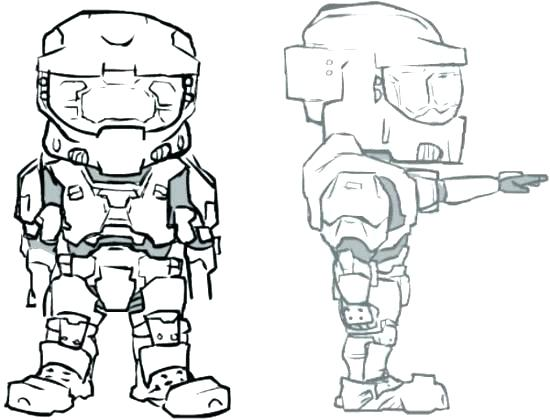 550x420 Halo Master Chief Coloring Pages Halo Master Chief Coloring Pages