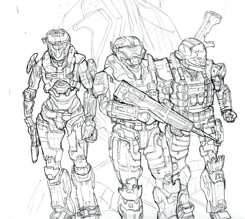 816x731 Halo Master Chief Coloring Pages Printable Halo Coloring Pages
