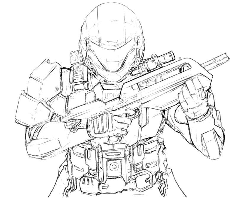 800x667 Halo Spartan Coloring Pages Free Printable Halo Coloring Pages