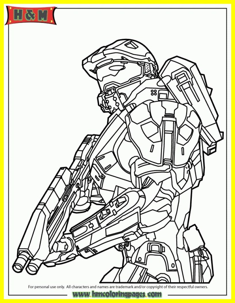 817x1050 Incredible Master Chief Coloring Pages Of Printable Halo Trends