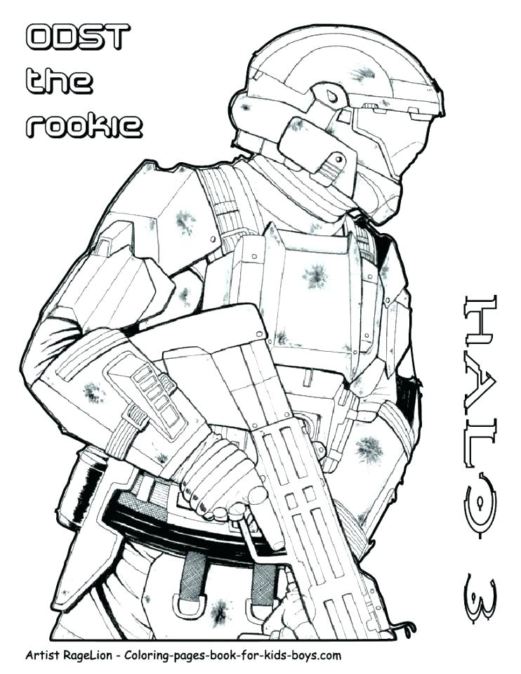 742x960 Halo Coloring Pages