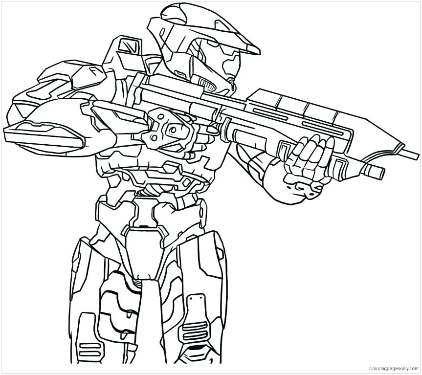 863x767 Halo Coloring Page Halo Coloring Pages Halo Master Chief