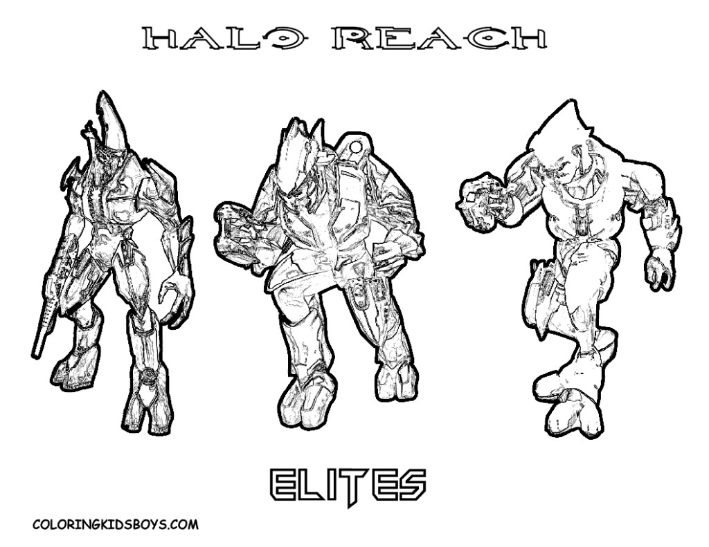 1024x791 Halo Elite Coloring Pages