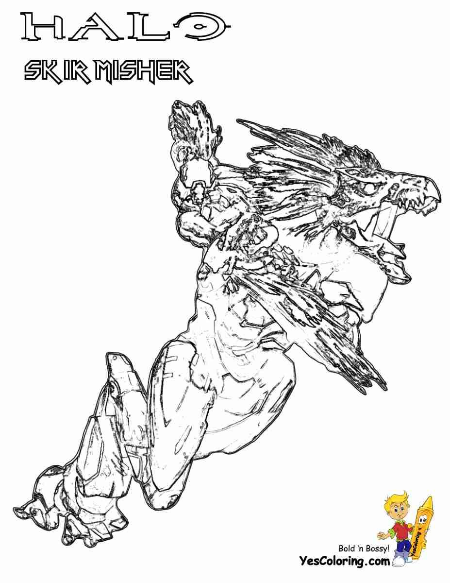 927x1200 Halo Elite Coloring Pages Olegratiy