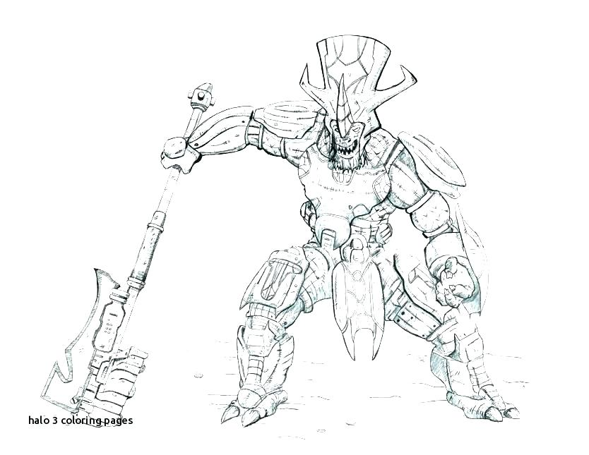 834x645 Halo Reach Elite Coloring Pages With Page Printable