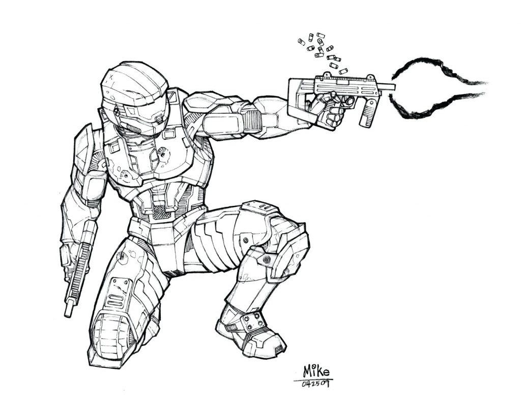 1024x795 Coloring Page Halo Coloring Page Nice Master Chief Pages Halo