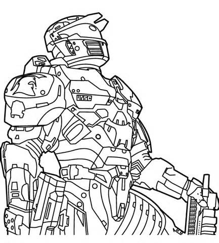 433x480 Halo Coloring Pages And Book Uniquecoloringpages Halo