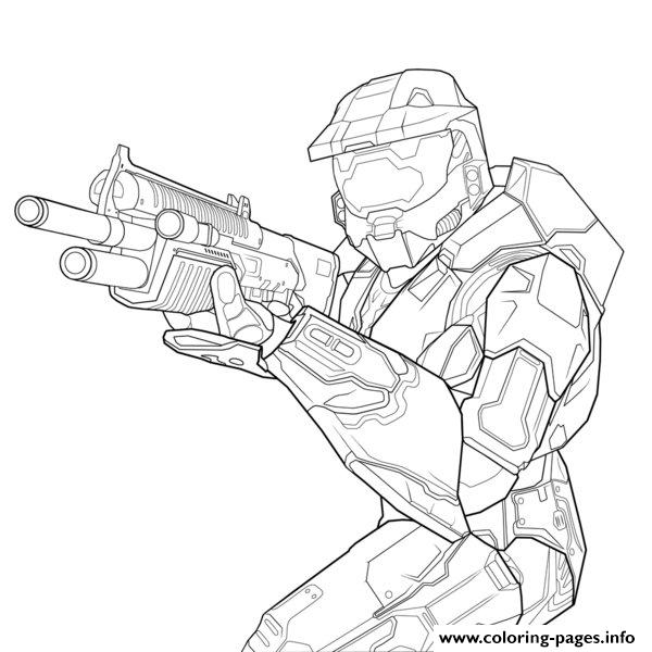 600x600 Halo Helmet Coloring Pages
