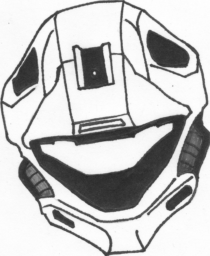 810x987 Halo Recon Helmet Coloring Pages Q