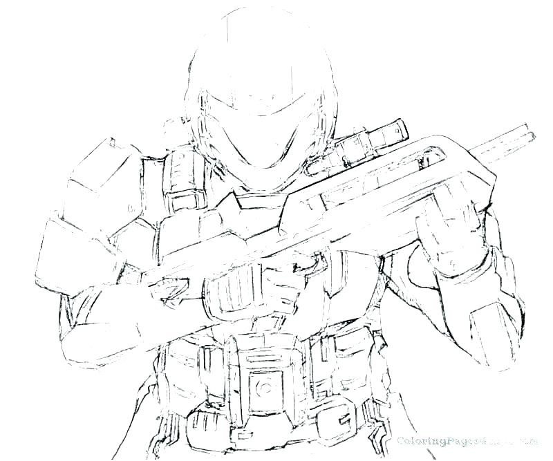 800x667 Halo Spartan Coloring Pages Free Printable Halo Reach Coloring