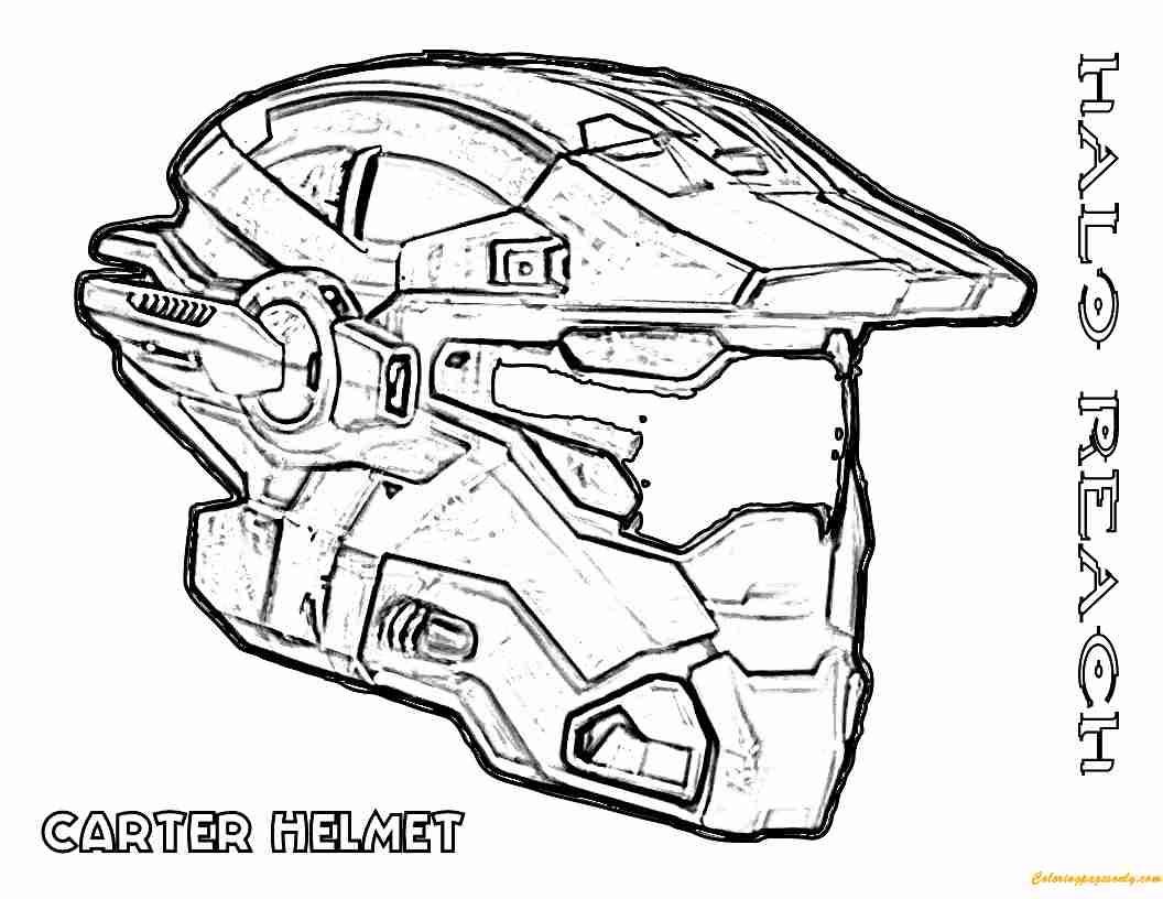 1056x816 Carter Helmet Halo Coloring Page Free Pages Online At Olegratiy