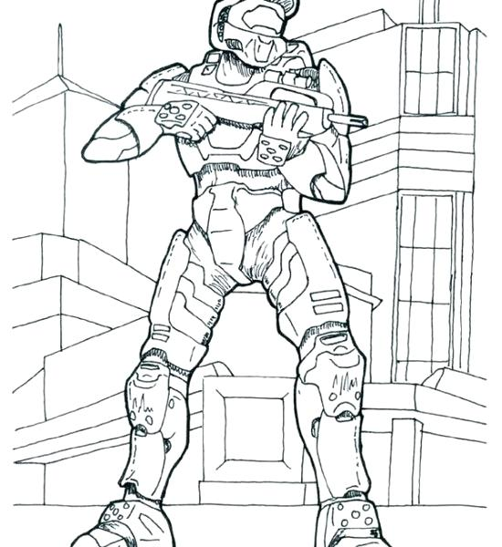 550x600 Master Chief Coloring Page