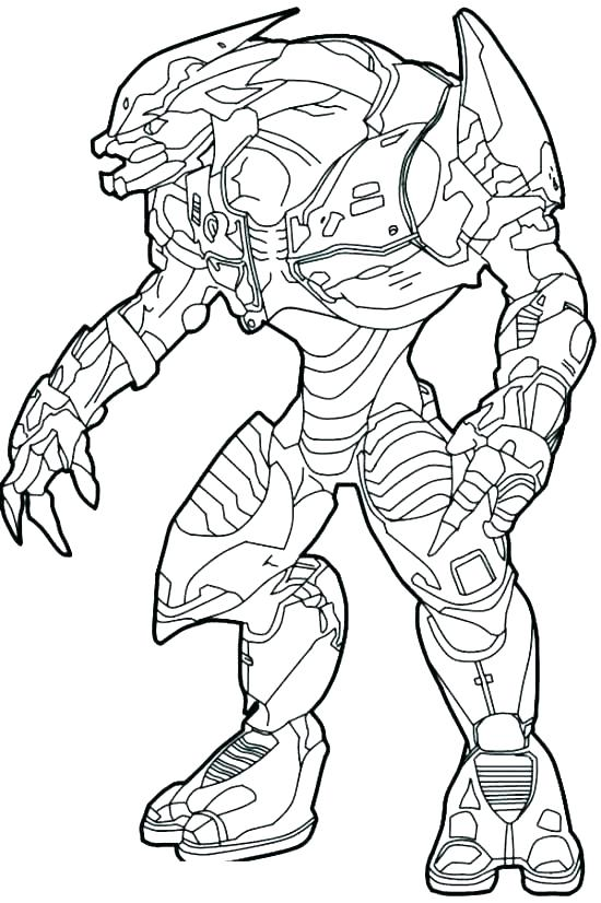 550x826 Coloring Pages For Kids Winter Halo Reach Page Carter Helmet