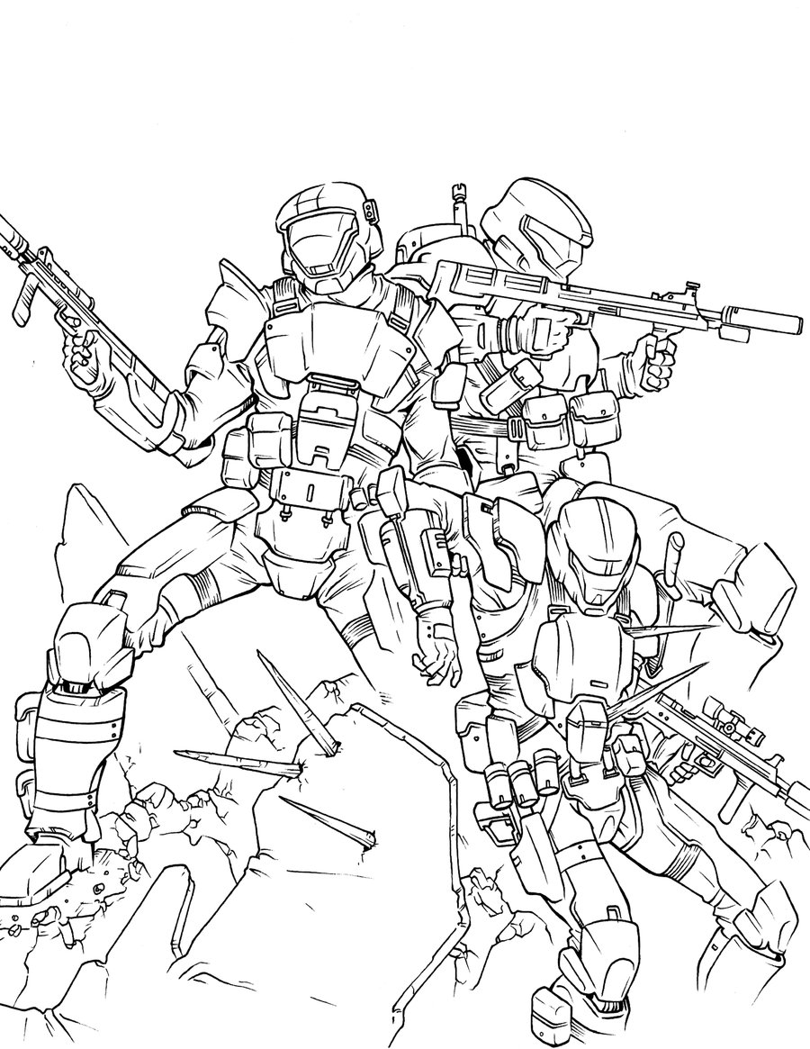 900x1165 Halo Coloring Pages