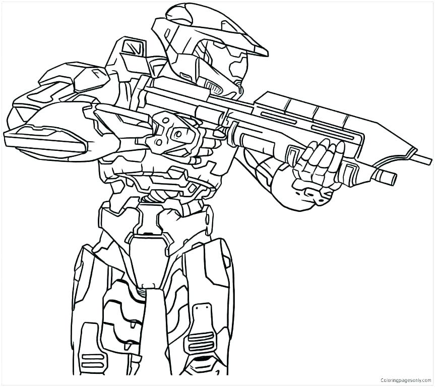 863x767 Halo Coloring Pages To Print Halo Coloring Page Knight Coloring