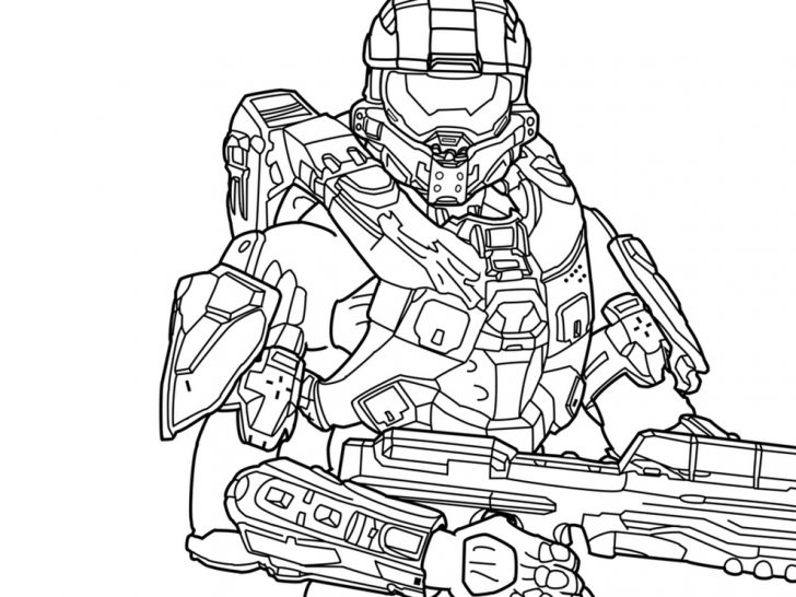 728x546 Halo Master Chief Coloring Pages