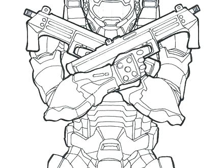 440x330 Halo Master Chief Coloring Pages Chiefs Coloring Pages Halo