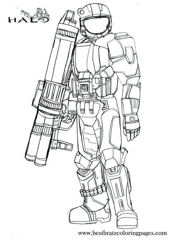 564x789 Halo Master Chief Coloring Pages Halo S Coloring Page Free
