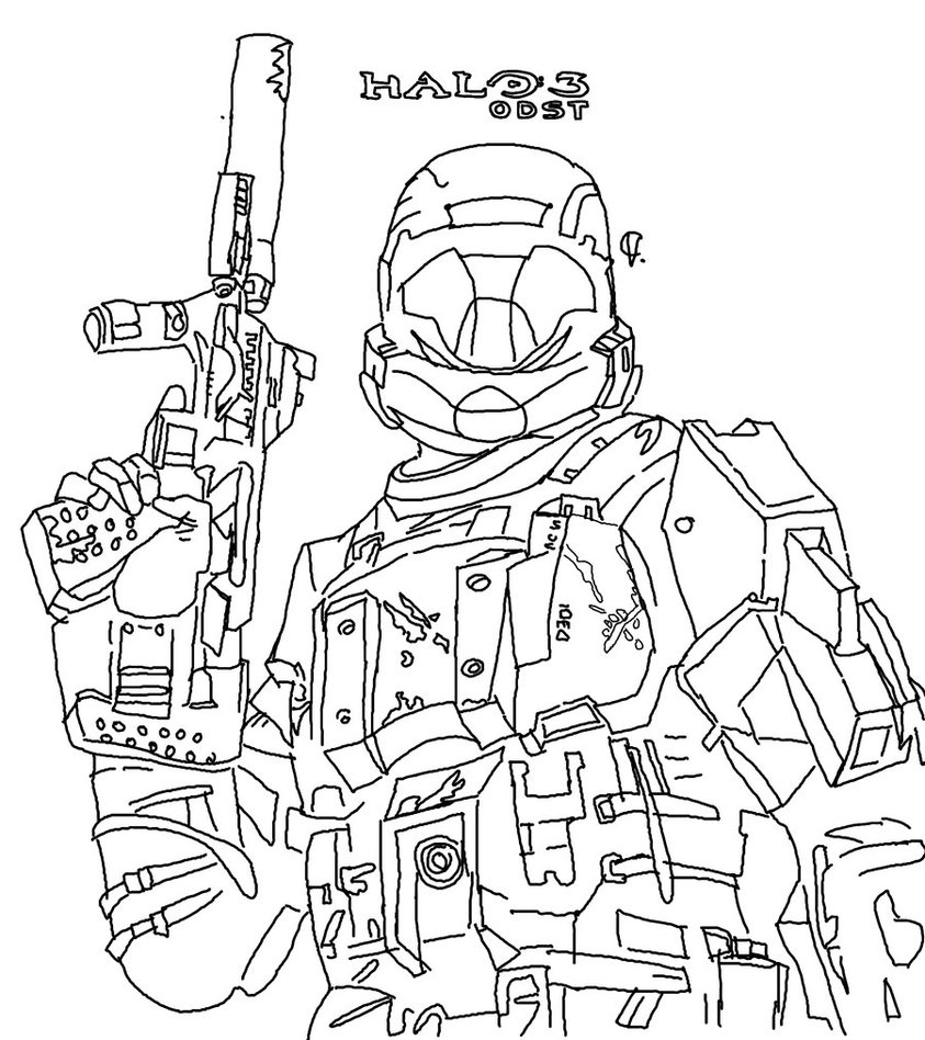 843x948 Halo Reach Coloring Pages To Print With Master Chief