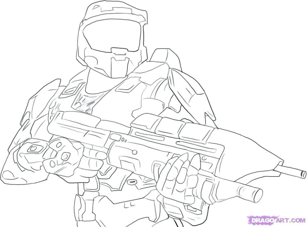 1024x760 Master Chief Coloring Pages Master Chief Coloring Page Halo