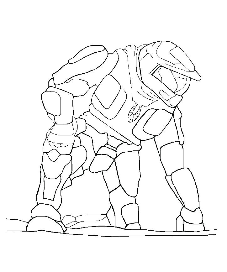 724x868 Halo Coloring Pages