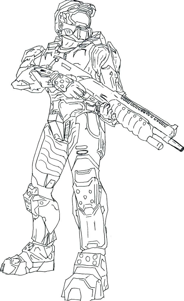 618x1011 Amazing Outstanding Halo Reach Coloring Pages New Master Chief