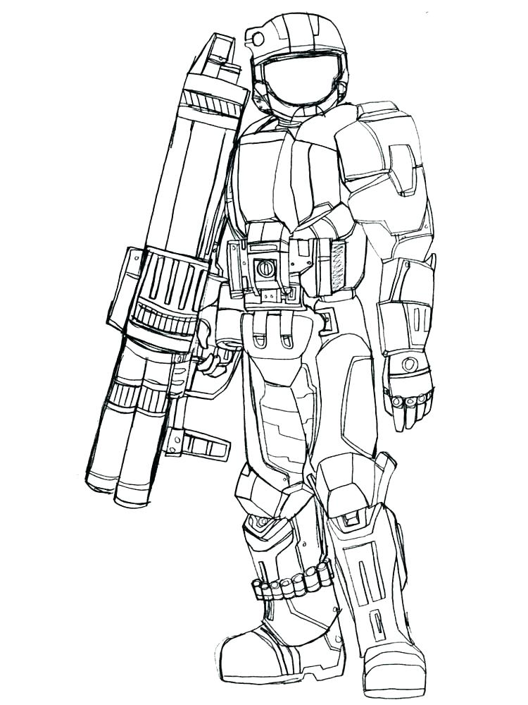 750x1000 Halo Coloring Pages Free