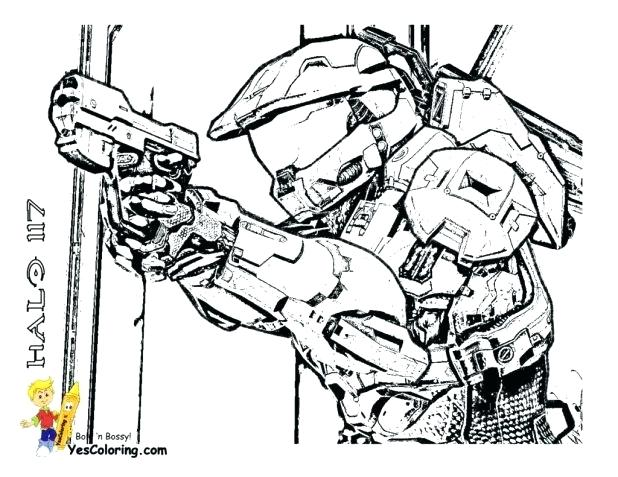 618x477 Marvelous Outstanding Halo Reach Coloring Pages New Spartan Free