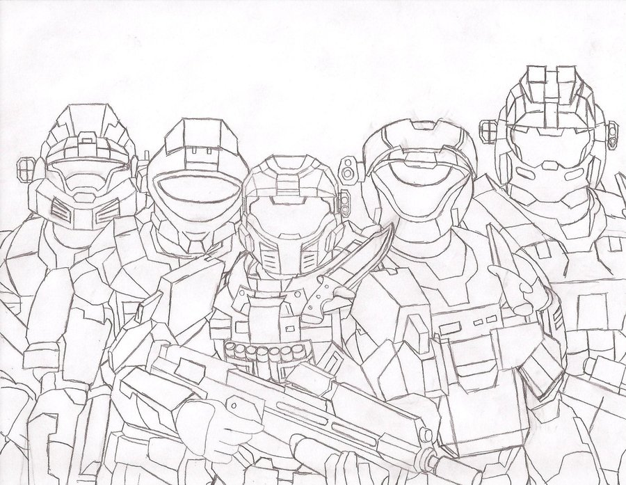 900x697 Halo Reach Female Coloring Noble Team Pages