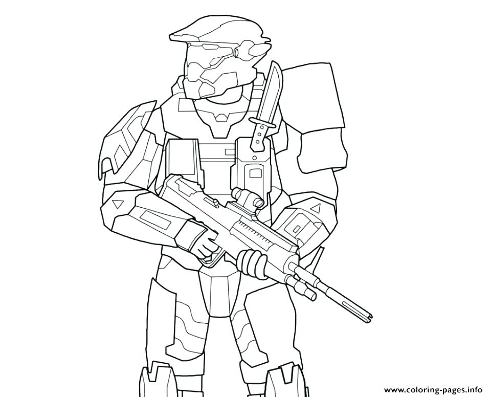 960x776 Halo Spartan Coloring Pages