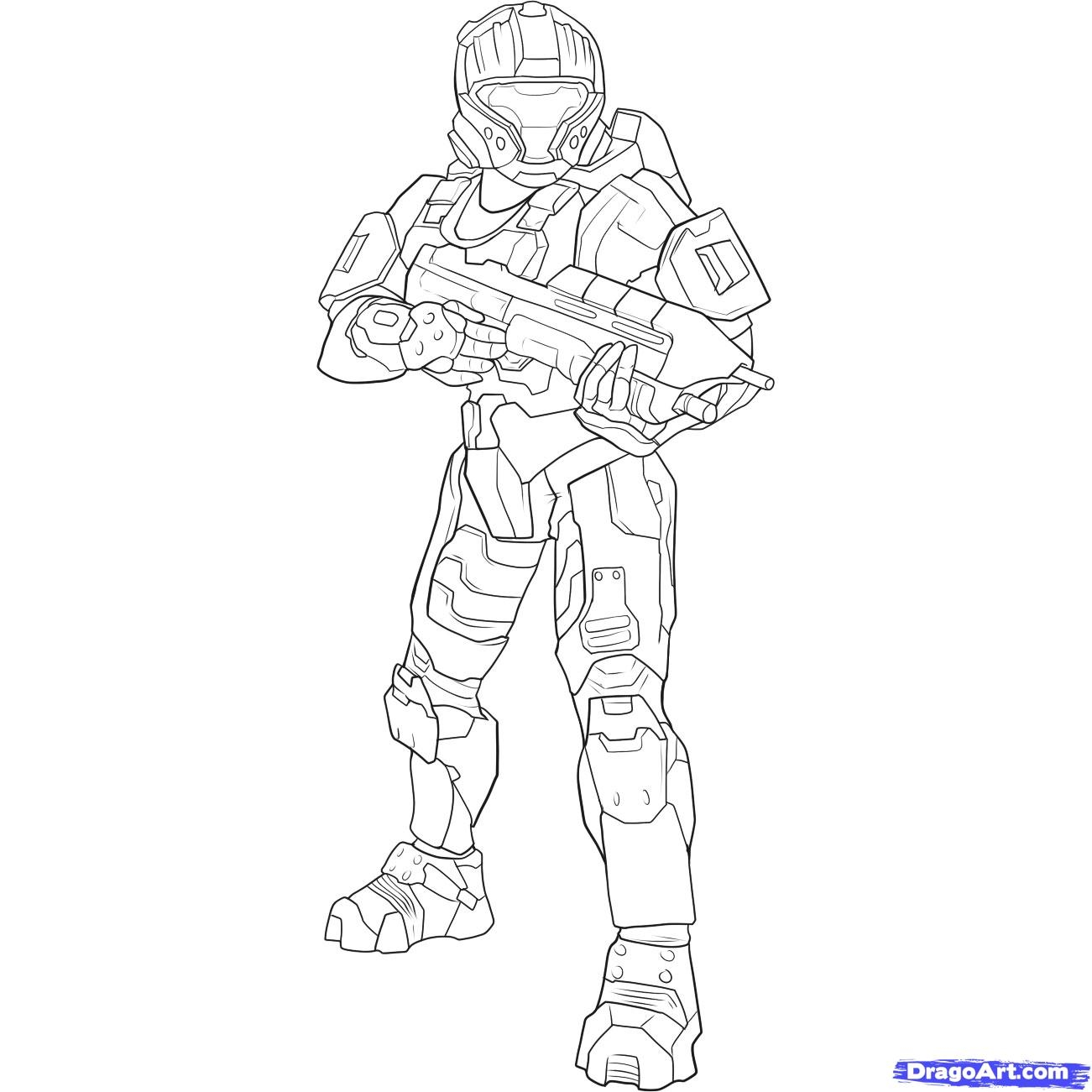 1301x1301 Awesome Cartoon Halo Spartan Coloring Pages