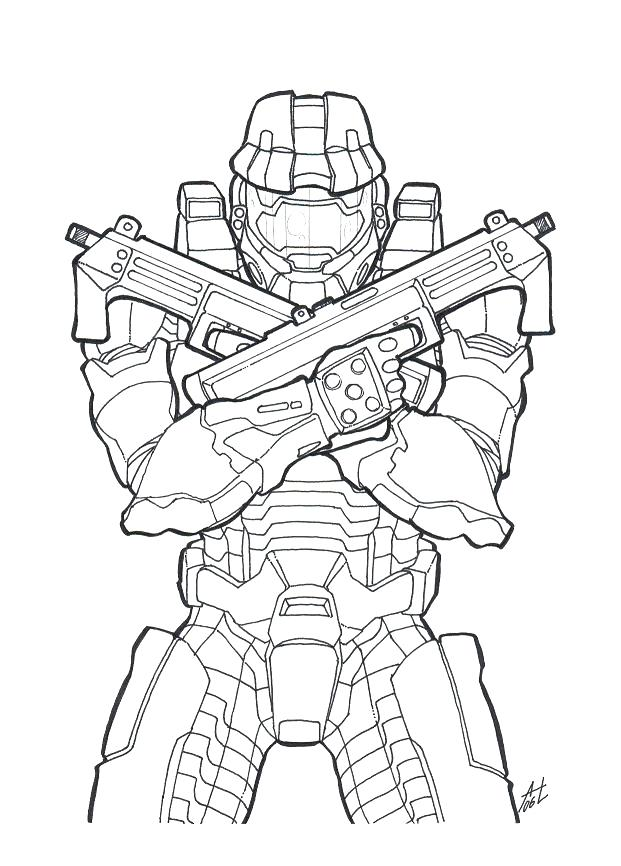 621x866 Halo Spartan Coloring Pages View Larger Halo Color Pages Halo