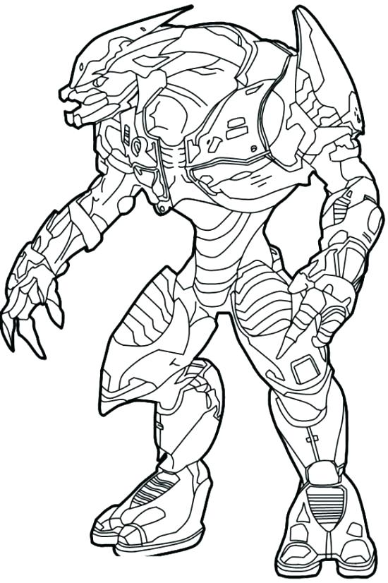 550x826 Spartan Coloring Pages Halo Master Chief Coloring Pages