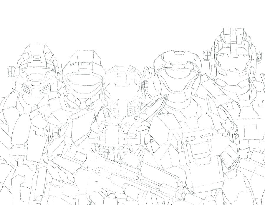 900x697 Halo Spartan Coloring Pages