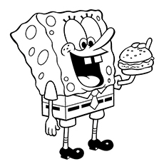 Hamburger And Fries Coloring Pages