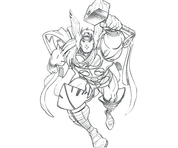 600x500 The Mighty God Coloring Page The Mighty God Coloring Page Thor