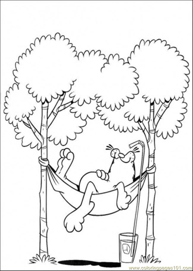 650x912 Lazy Garfield Coloring Page Garfield Lazy