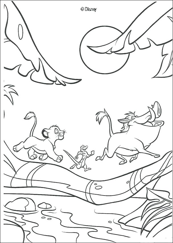 607x850 Lion King Coloring Pages Hammock Swing And Running Coloring Page