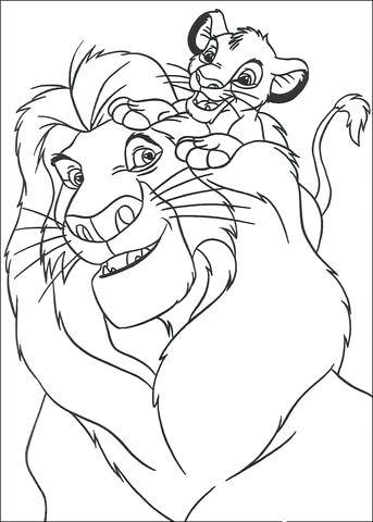 343x480 Simba Coloring Pages And Relaxing In A Hammock Coloring Page